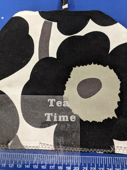 """Used Circut to print out the words """"Tea Time"""""""